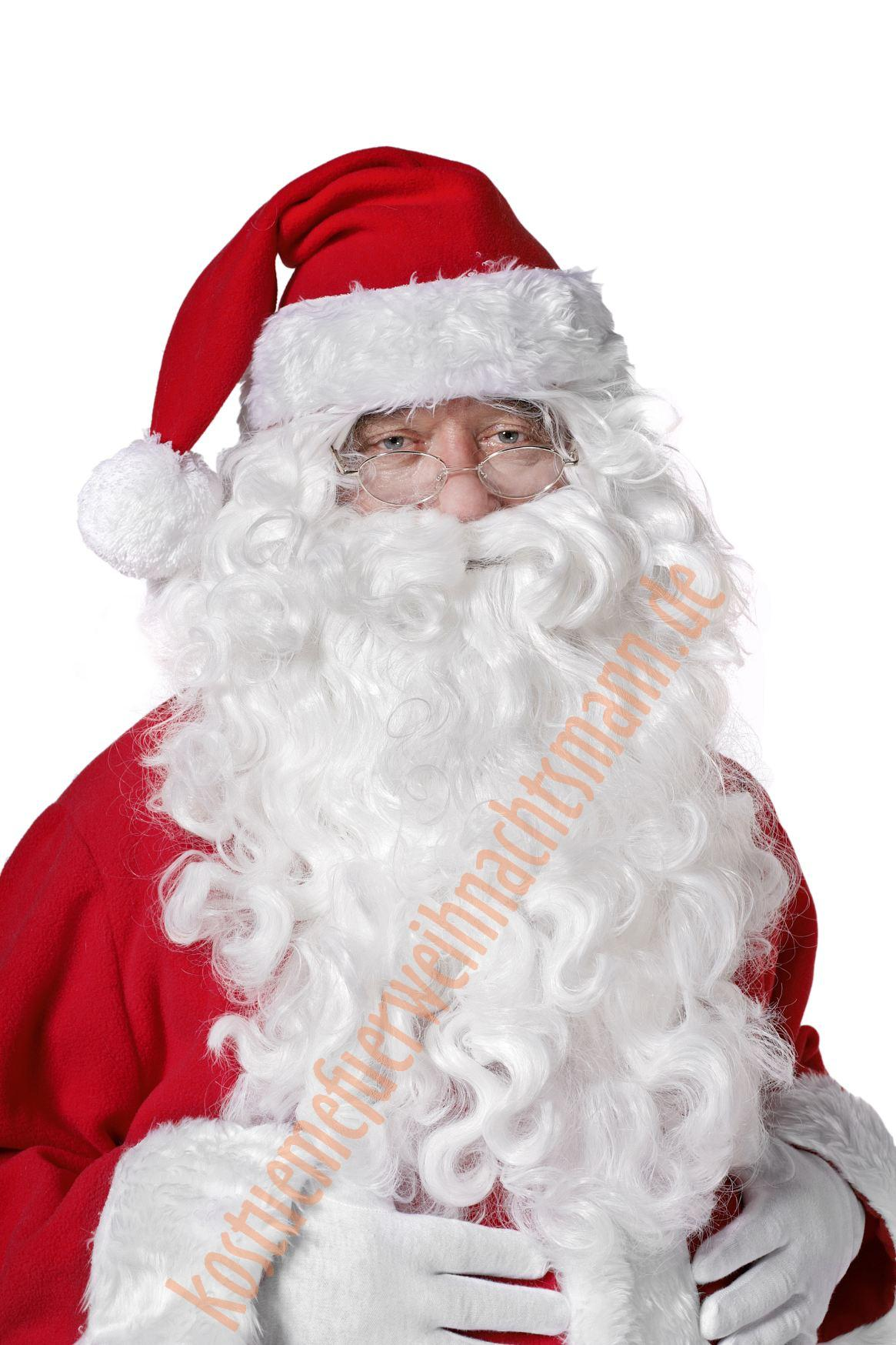 Zubehör Kostüm Weihnachten Weihnachtsmann Bart Perücke Weiß Augenbrauen