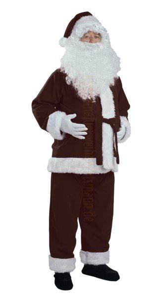 weihnachtsmann kost m dunkelbraun jacke hose und m tze. Black Bedroom Furniture Sets. Home Design Ideas