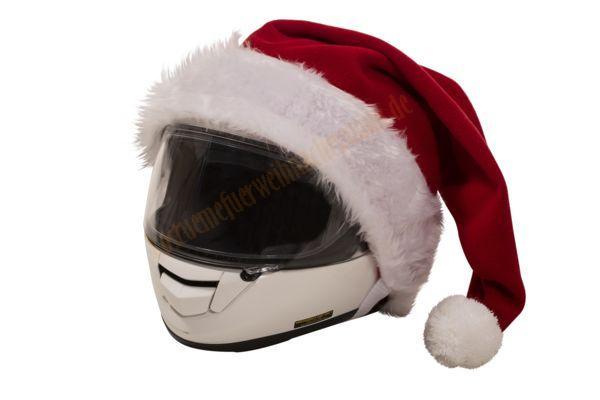 weihnachtsmannm tze f r den motorradhelm