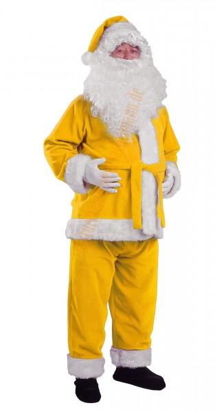 gelbes weihnachtsmannkost m gelbe jacke hose m tze. Black Bedroom Furniture Sets. Home Design Ideas
